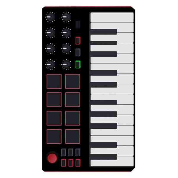 Producer Midi Keyboard Sticker - The Producer Kit