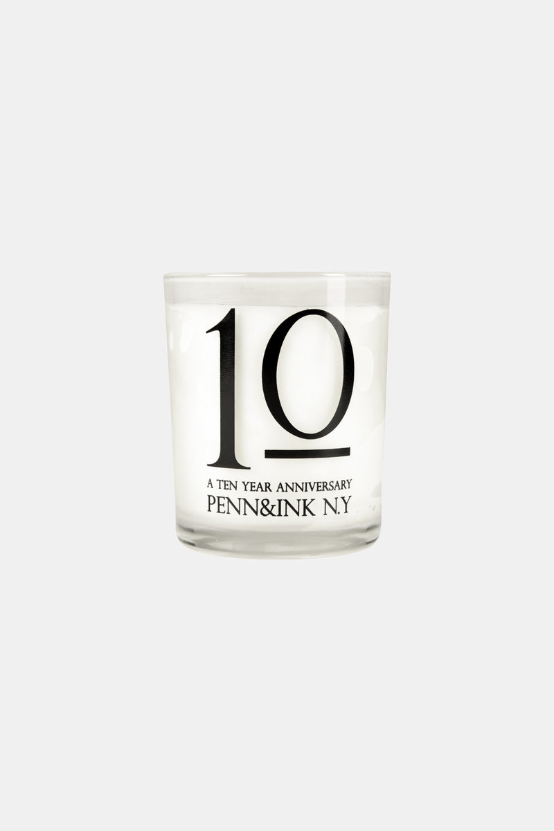 PENN&INK N.Y 10 YEARS CANDLE (WHITE)