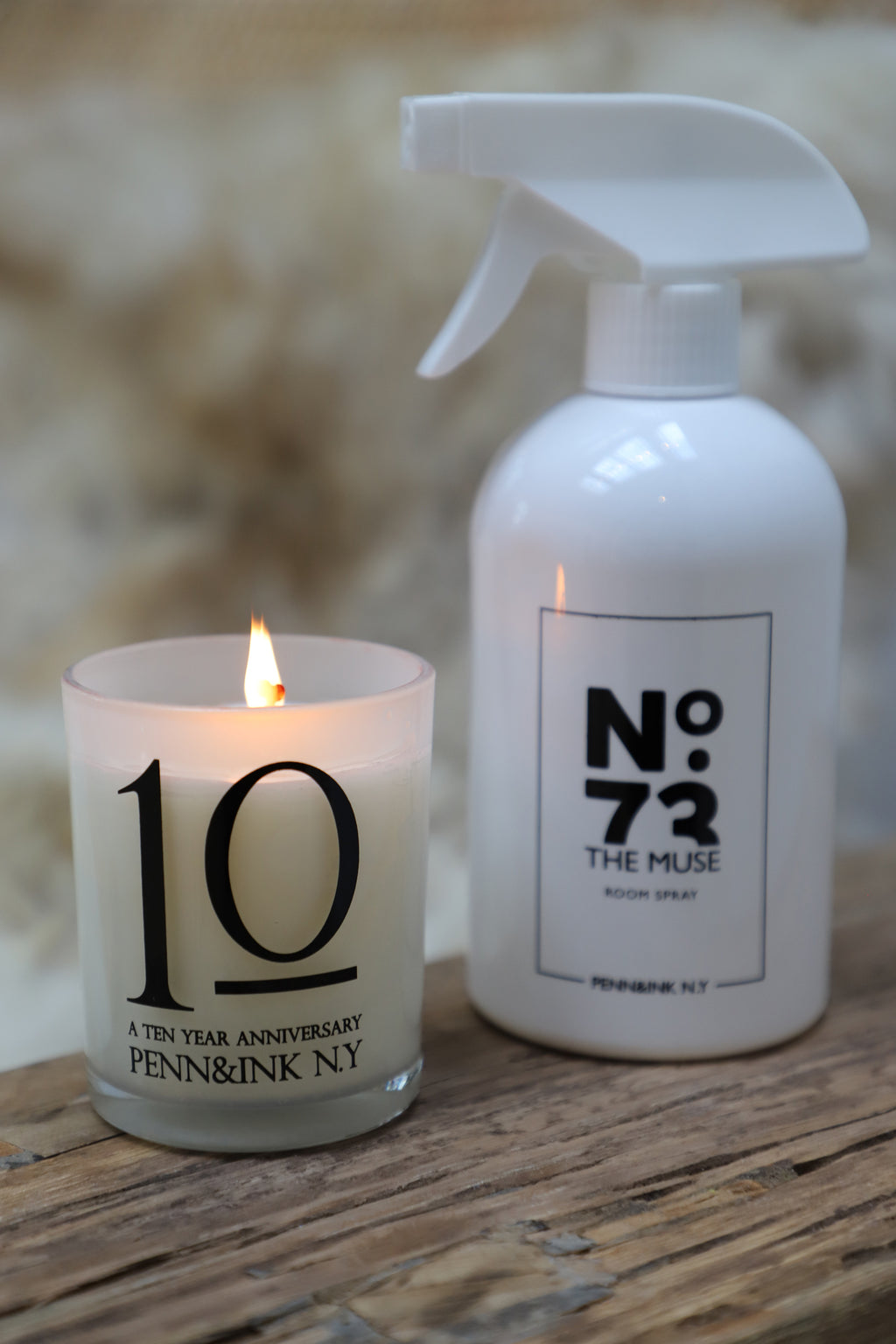 Campaign photo: PENN&INK N.Y 10 YEARS CANDLE (WHITE)