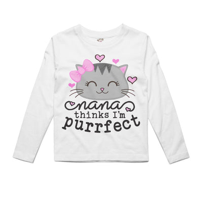 I'm Purrfect Personalized | Toddler Shirt White