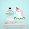 Unicorn Floral Personalized Name | Wall Decal