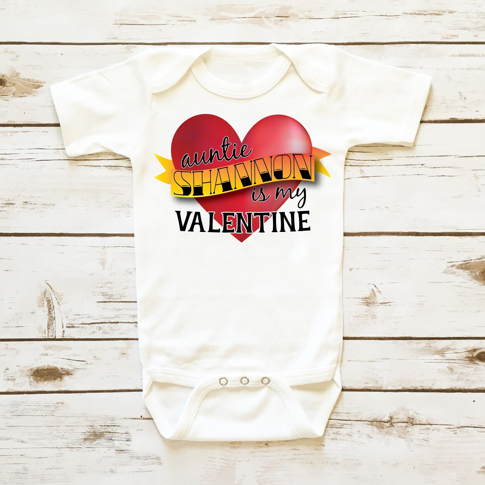 auntie is my valentine personalized infant boy cassidys closet