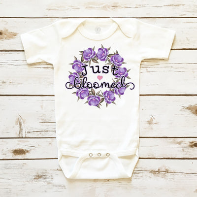 Baby Clothes - Just Bloomed Floral Bodysuit