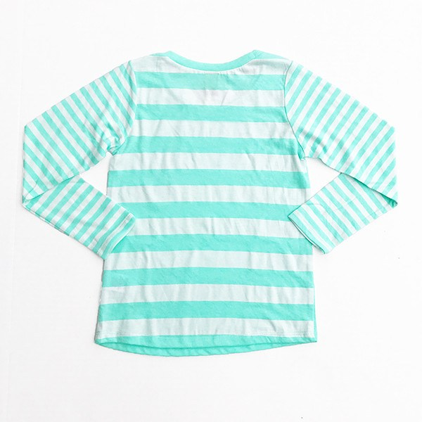 Owl Love You Forever | Mint Striped Girl's Shirt