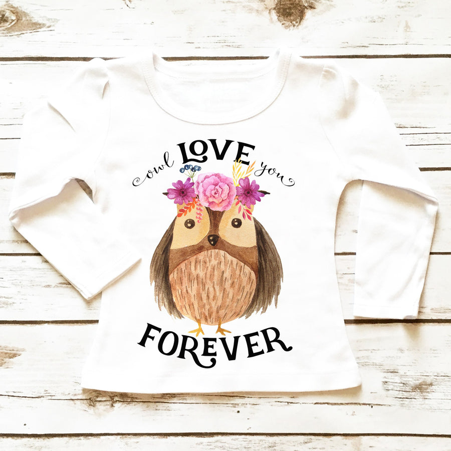 Owl Love You Forever | Toddler Shirt