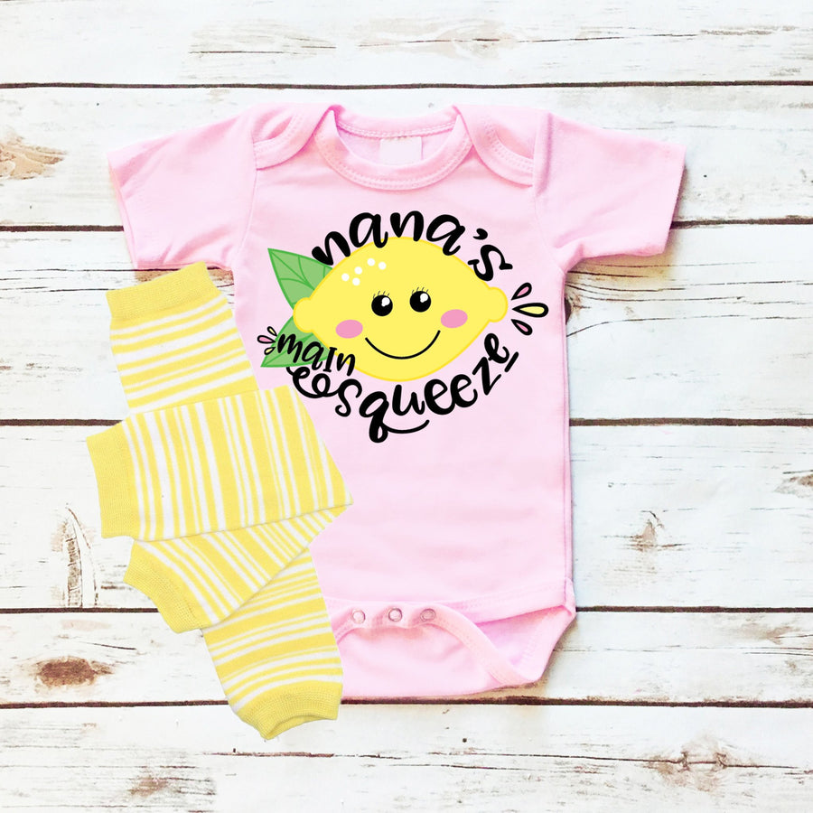 Personalized Main Squeeze | Infant Pink
