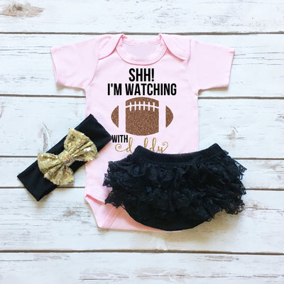 SHH! I'm Watching Football with Daddy | Pink - Cassidy's Closet - 1