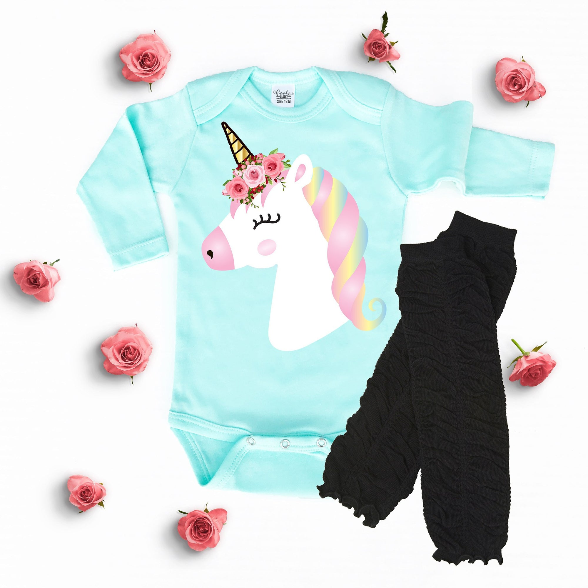 Baby Girl Clothes Personalized Unicorn esie
