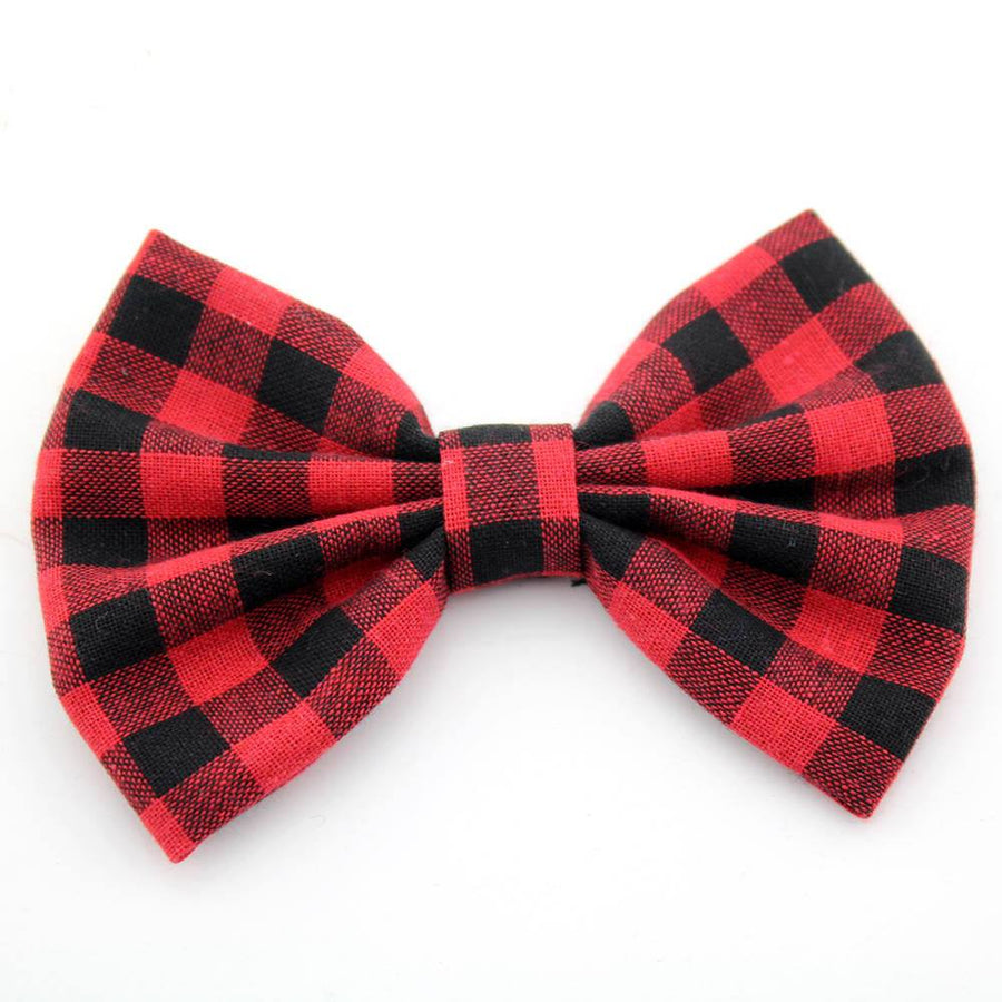 Buffalo Plaid Alligator Clip Bow