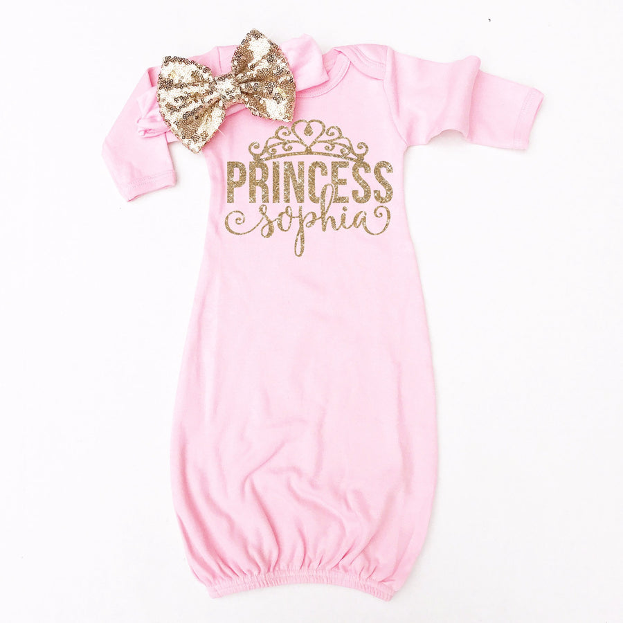 Princess Personalized Baby Gown | Pink - Cassidy's Closet