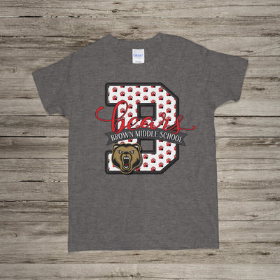 Spirit Wear - BMS Short Sleeve T-Shirt - Bears Monogram