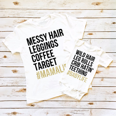 Women's Shirts - #MAMALIFE Mommy & Me Shirt Set