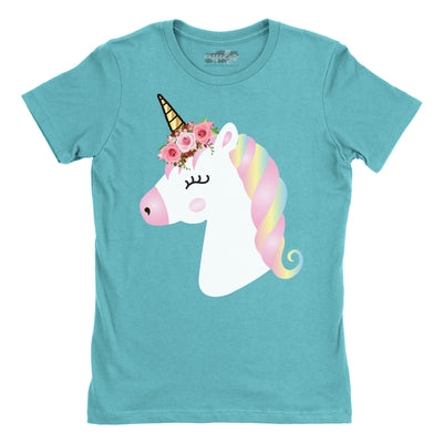 Women's Shirts - Unicorn Floral Women's T-Shirt
