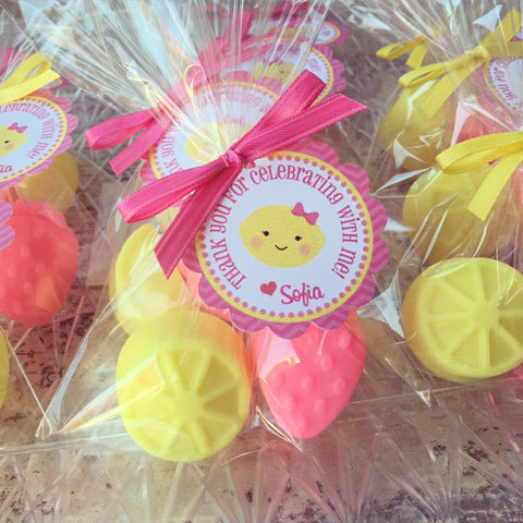 Strawberry Lemon Soap Favors