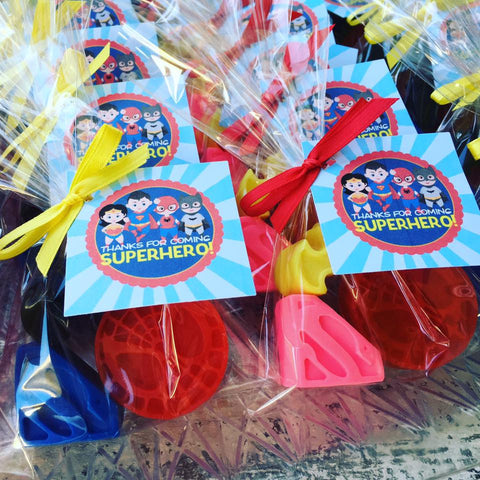 Superhero Soap Favors