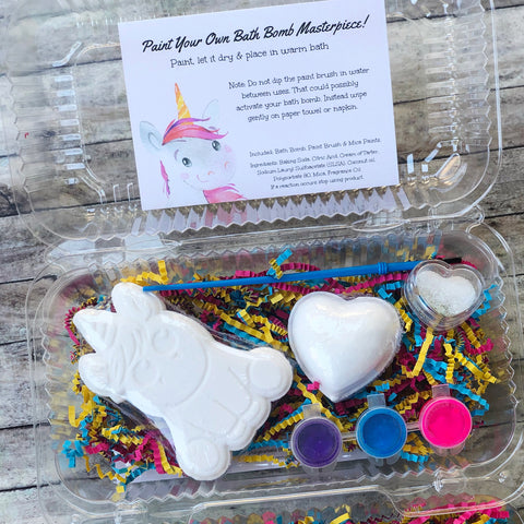 Unicorn Bath Bomb Paint Kit