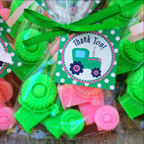 Tractor Soap Favors