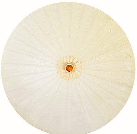 "Parasol Umbrella Solid Off White Oiled Cotton With Bamboo handle 24"" length - 28"" open"