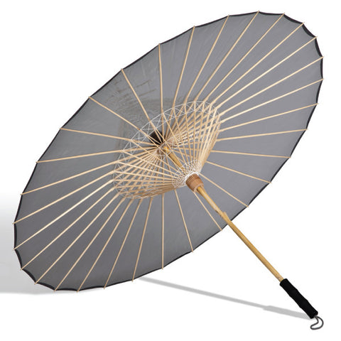 "Parasol Umbrella BRELLI  Grey Medium Parasol Umbrella 37"" Open"