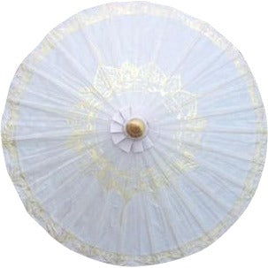 Parasol Umbrella Gold Lotus on Natural Sand no lines THIS ITEM SHIPS BY 7/17