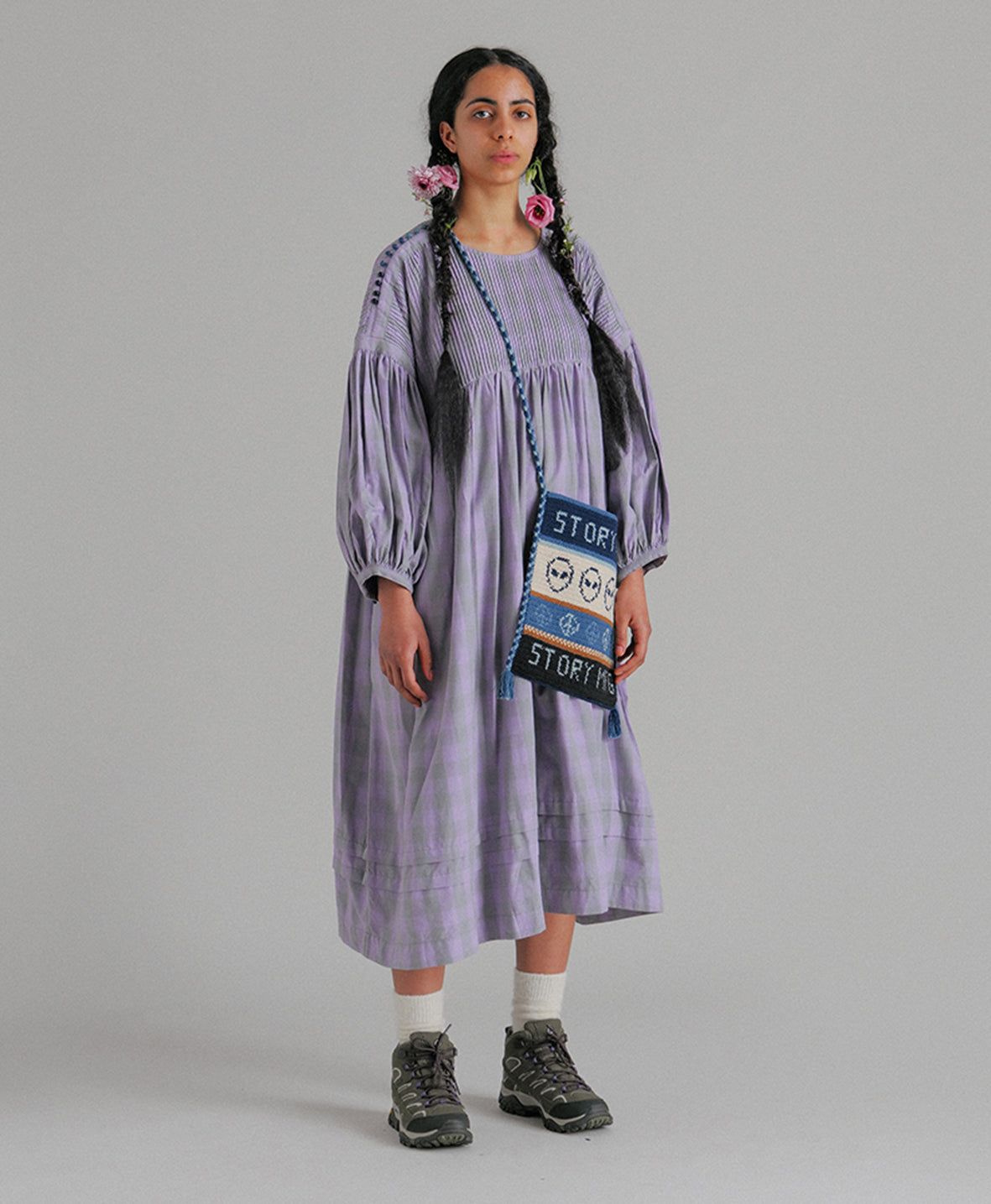 Mon Dress - Lavender Jam Fat Gingham