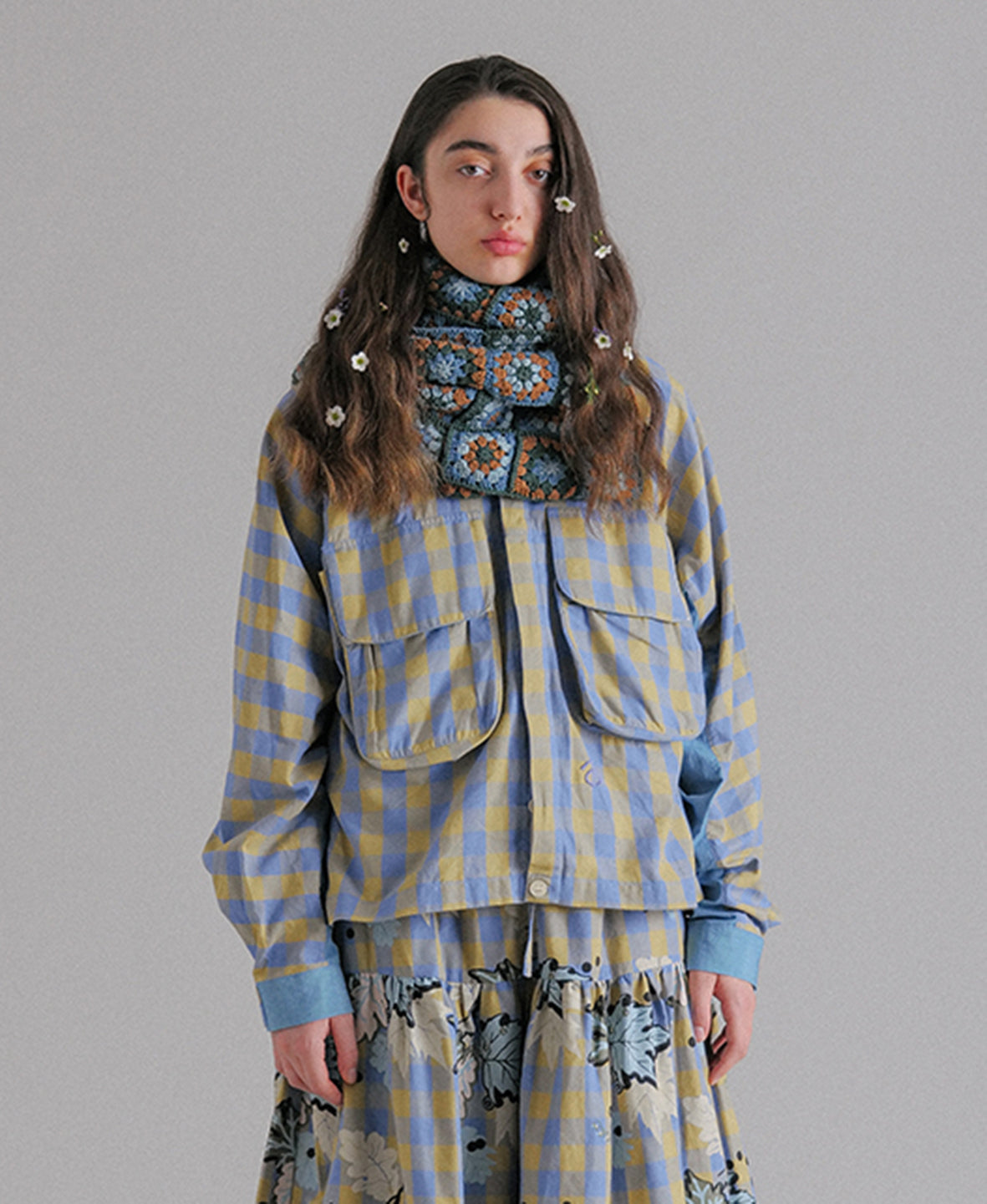 Forager Jacket - Blueberry Custard Fat Gingham