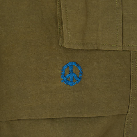 Cropped Peace Pants − Khaki Overdye