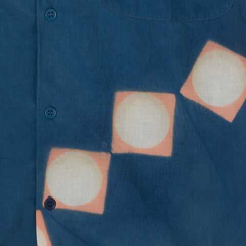 Shore Shirt − Indigo Pink Lunar Clamp