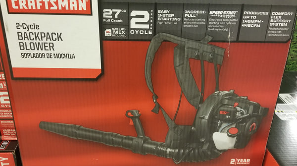 Craftsman 4 cycle backpack  leaf blower