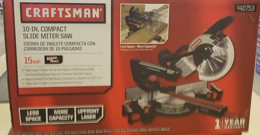 Craftsman 10 in compact sliding Miter saw