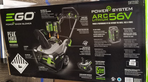 "EGO Power+ 21"" 56-Volt Lithium-ion Dual Port Snow Blower with (2) 7.5Ah Batteries and Charger"