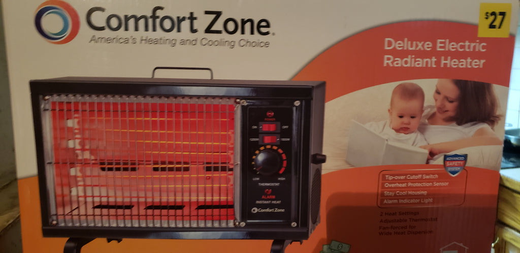 Comfort Zone  Deluxe Electric Radiant Heater