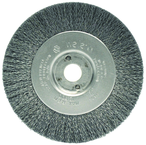 "4"" Diameter - 3/8-1/2"" Arbor Hole - Crimped Steel Wire Straight Wheel"