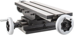 "Interstate - 6"" Table Width x 19 Table Length, 7-1/2"" Cross Travel x 11"" Longitudinal Travel, Slide Machining Table - 5"" Overall Height, Two 9/16"" Longitudinal T Slots, 10-1/2"" Base Length x 8"" Base Width"