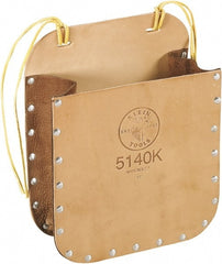 "Klein Tools - 1 Pocket General Purpose Holster - Leather, Tan, 9"" Wide x 7"" High"