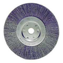 "6"" Diameter - 1/2-5/8"" Arbor Hole - Crimped Steel Wire Straight Wheel"