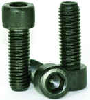 1/2-13 x 1 - Black Finish Heat Treated Alloy Steel - Cap Screws - Socket Head