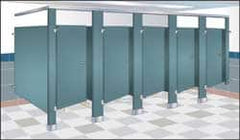 Bradley - Washroom Partition Steel Panel - 58-1/2 Inch Wide x 58 Inch High, ADA Compliant Stall Compatibility, Almond