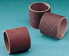 "3M - 240 Grit Aluminum Oxide Coated Spiral Band - 3/4"" Diam x 1-1/2"" Wide, Very Fine Grade"