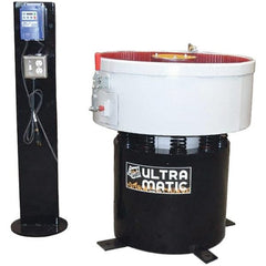 Made in USA - 2 hp, Wet/Dry Operation Vibratory Tumbler - Adjustable Amplitude, Flow Through Drain