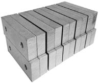 10 Pack Aluminum Vice Jaws - SBM - Part #  VJ-6A062501M-10