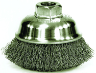 "3-1/2"" CRIMPED WIRE CUP BRUSH"