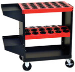 Tool Storage Cart - Holds 48 Pcs. 30 Taper - Black/Red