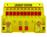Padllock Wall Station - 15-1/2 x 22 x 1-3/4''-With (10) 1106 Aluminum Padlocks