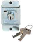 Built-In Flat Key Lock for use with Single & Double Tier Locker