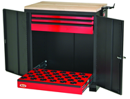 CNC Workstation - Holds 30 Pcs. 30 Taper - Black/Red