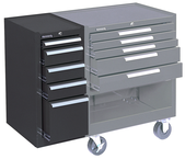 205 Brown 5-Drawer Hang-On Cabinet w/ball bearing Drawer slides - For Use With 293, 295 or 297