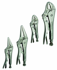 4 Piece - Curved & Straight Jaw Locking Plier Set