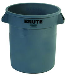 Brute - 10 Gallon Round Container - Double-ribbed base