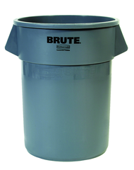 Brute - 55 Gallon Round Container -- Double-ribbed base